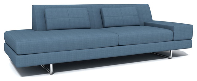 TrueModern Hamlin One Arm Sofa with Chaise modern-indoor-chaise -lounge-chairs  sc 1 st  Houzz : modern sofa chaise - Sectionals, Sofas & Couches