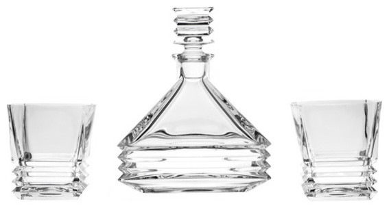 The Crystal Wonderland - Akordio Crystal Whiskey Decanter and 6 Tumblers & Reviews | Houzz