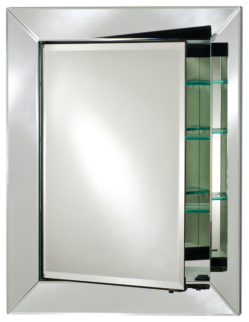 Radiance Contemporary Single Door Medicine Cabinet Cabinets By Afina Corporation