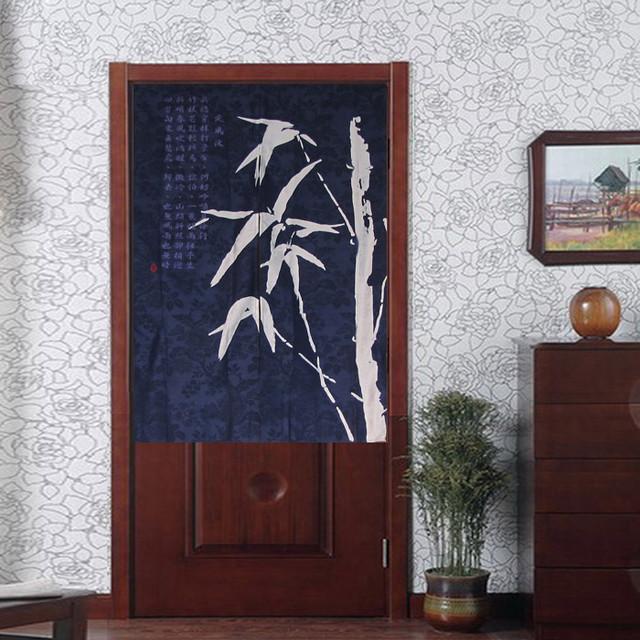 Noren Bamboo Batik Half Door Curtain Modern By Sinofaucet