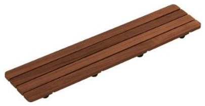 Kohler K 9334 Groove Series 25 1 2 Teak Wood Shower Drain Cover Transitional Tub And Shower Parts By Buildcom