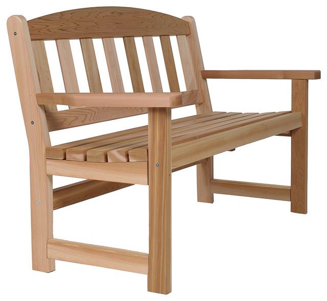 All Things Cedar Western Red Cedar Garden Bench - Transitional ...