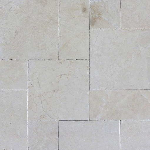 Tumbled Aegean Pearl French Pattern Travertine Tile Traditional Wall And Floor By Tiay