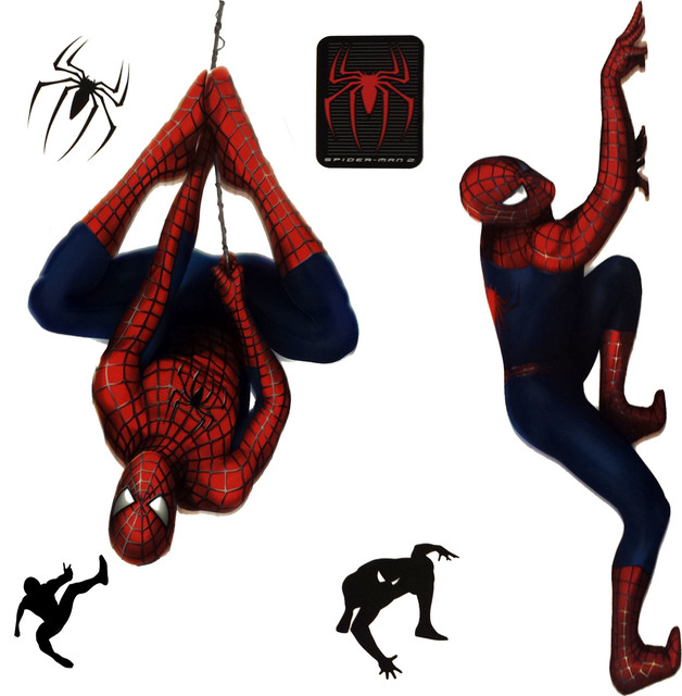 Marvel Spiderman 2 Stickers Superhero Self Stick Decals
