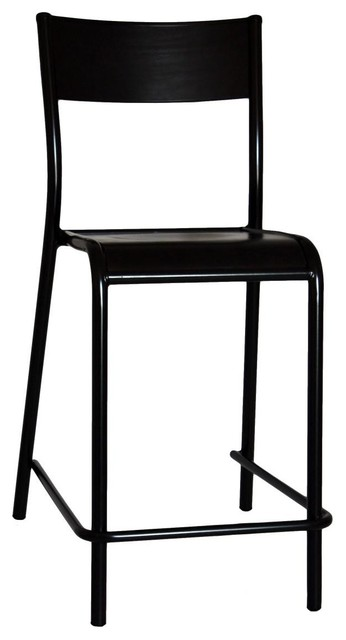 510 Original Black Bar Stool With Back Rest Stools And Kitchen By Label Edition