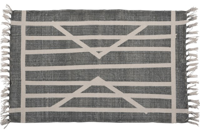 bea1b0a9 Block Print Rug Cotton Rug, 2x3, Centerpoint Stripe - Contemporary ...