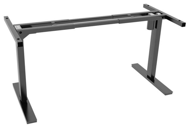 Ergo Elements Adjustable Height Standing Desk, Electric Push Button Base, Black.