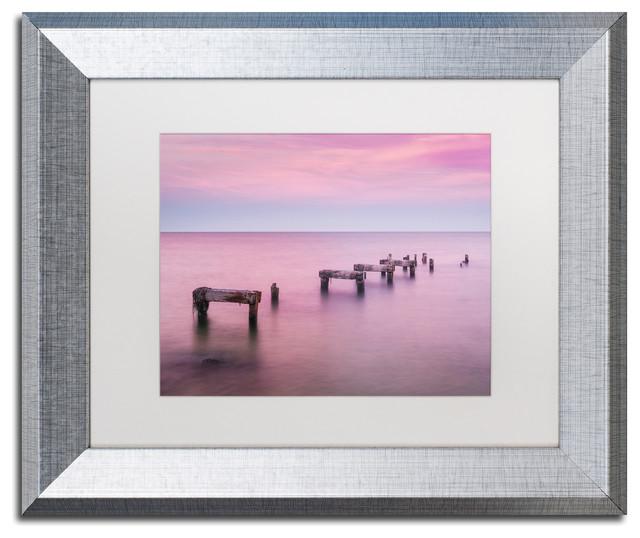 Michael Blanchette &x27;jetty No More&x27; Art, Silver Frame, White Mat, 14x11.