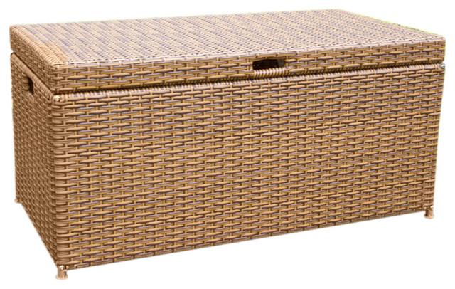 Jeco Inc Wicker Patio Furniture Deck Box Tropical Deck