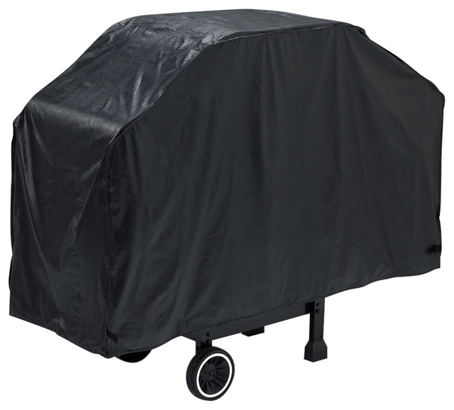 "Grillpro 52""x18""x40"" Black Economy Grill Cover."