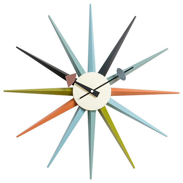 Sunburst Clock Modern Wall Clocks By Mlf Usa
