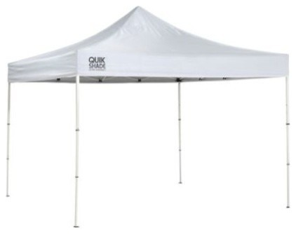 Shelter Logic 10&x27;x10&x27; Quik Shade Mp100c Straight Leg Canopy, White.