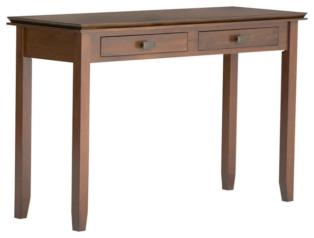 Artisan Solid Wood Auburn Brown 2-Drawer Console Table