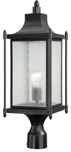 Dunnmore 1-Light Post Lights And Accessories, Black.