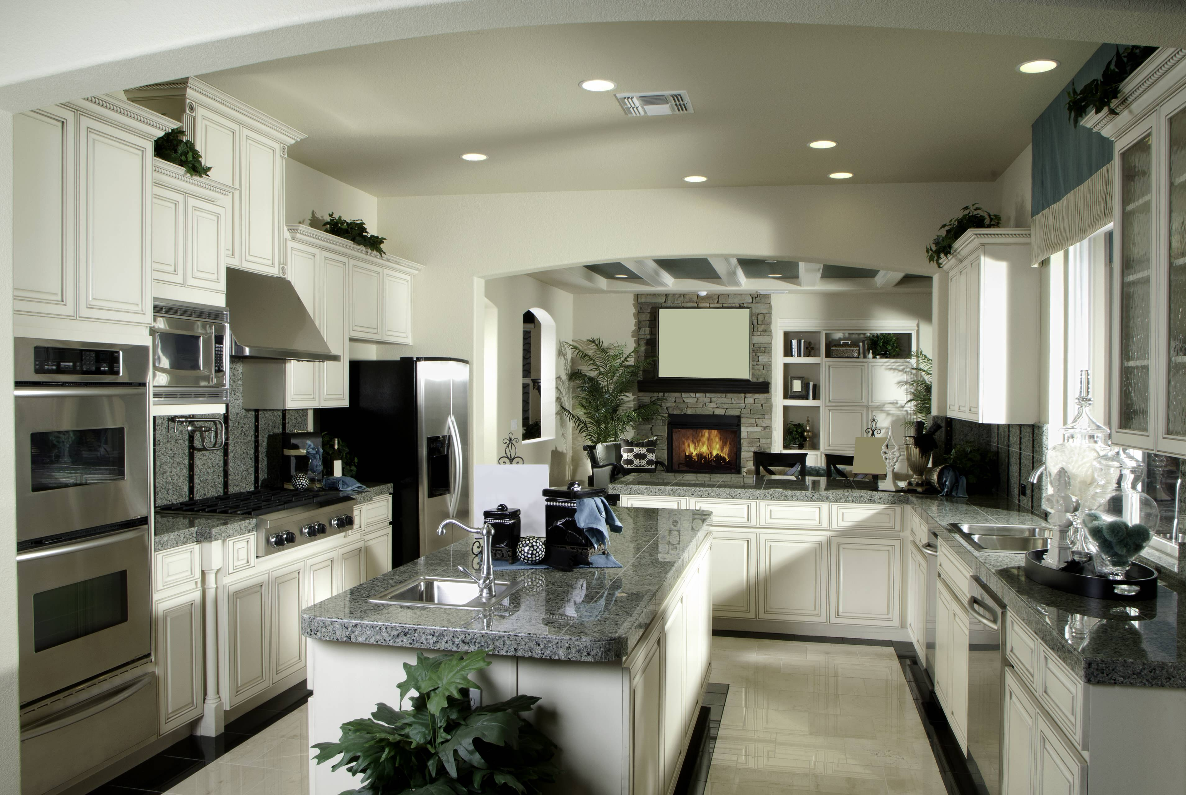 Chef's kitchen with dual sinks and dishwashers