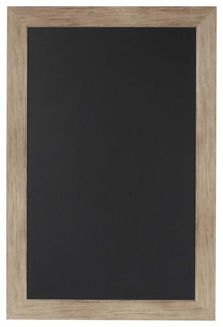 Beatrice Rustic Woodgrain Framed Magnetic Chalkboard