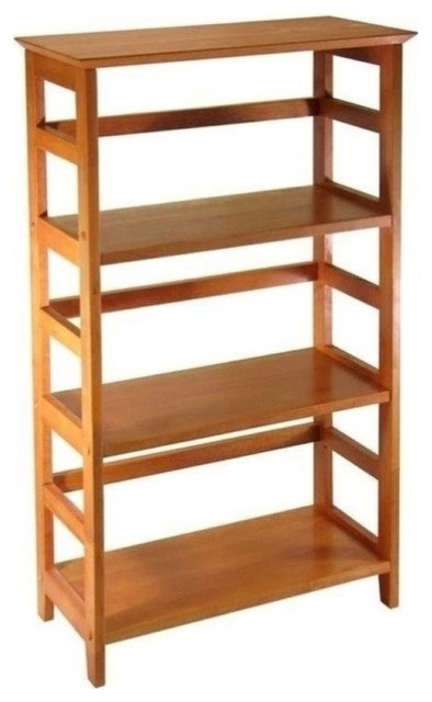 Bowery Hill 3-Shelf Bookcase, Honey by Bowery Hill