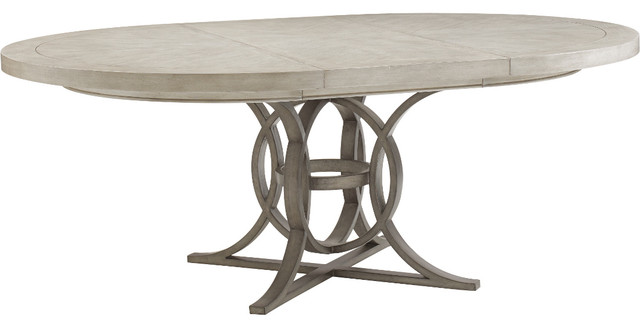 Oyster Bay Calerton Round Dining Table By Lexington Transitional Dining  Tables