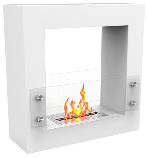 Regal Flame Dora Ventless Free Standing Ethanol Fireplace White