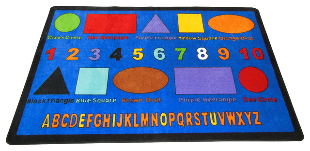Shapes #1051 6u0027x9u0027 Childrenu0027s Educational And Play Rug Contemporary Kids