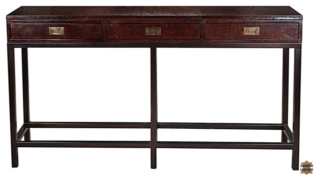 Campaign Embossed Console Table - Console Tables - by Sarreid Ltd