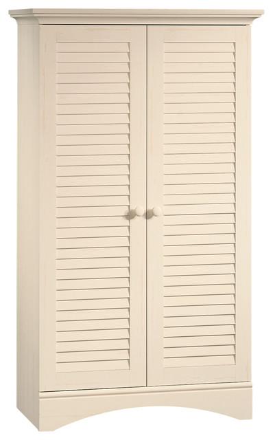 Harbor View Storage Cabinet, Antiqued White.