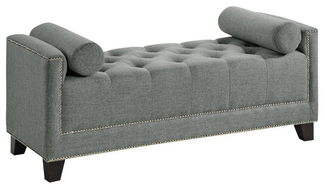 Baxton Studio Hirst Gray Bedroom Bench