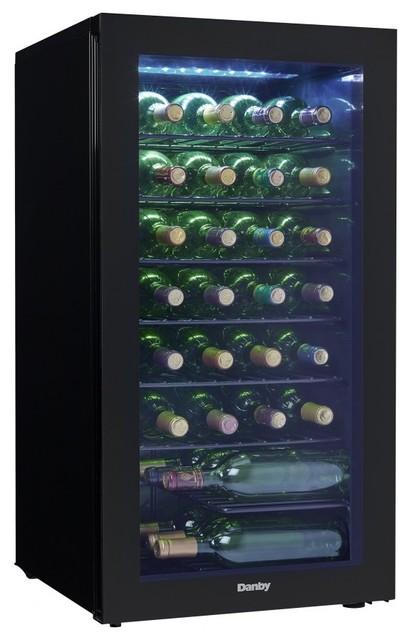 Shop houzz danby appliances 36 bottle wine cooler beer for Beer and wine cooler table