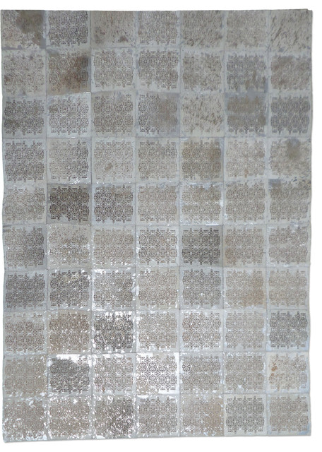 Essgee Carpets Rustic White Patchwork Leather Rug Reviews Houzz