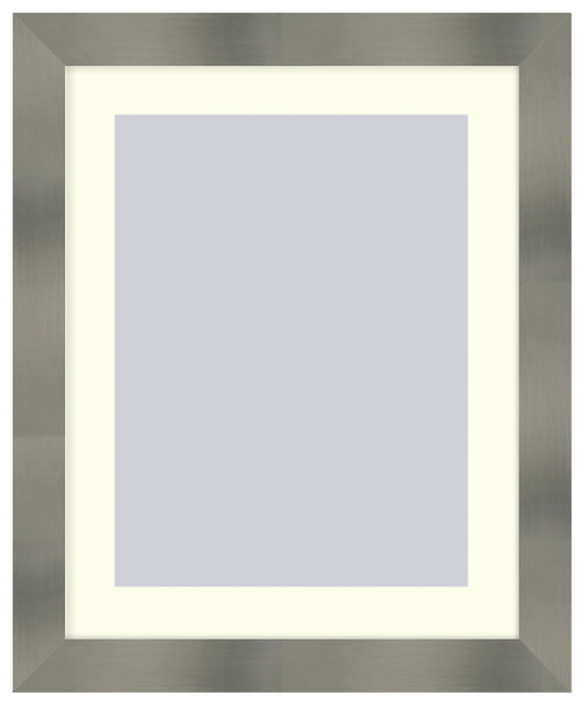 Wall Picture Frame Stainless Steel finish with a white acid-free matte, 11x14