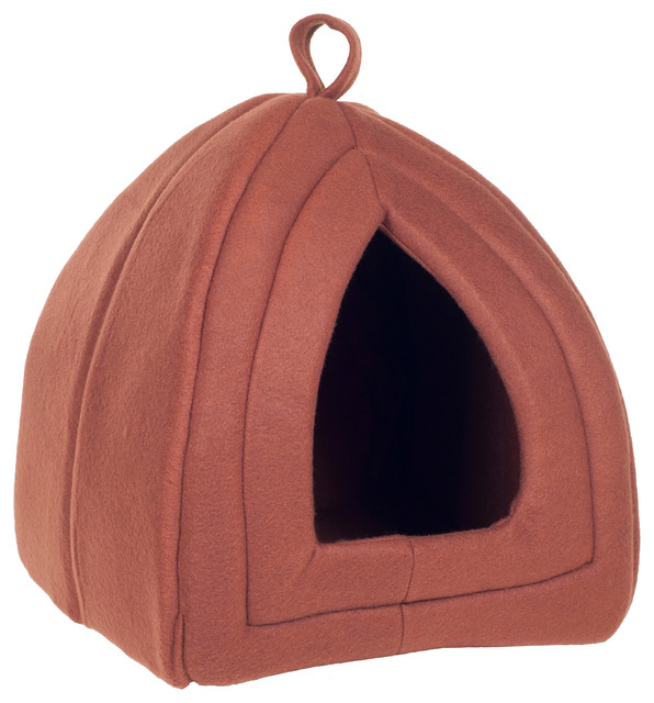 Cozy Kitty Enclosed Cat Bed by PETMAKER Traditional  : traditional cat beds from www.houzz.com size 596 x 640 jpeg 76kB