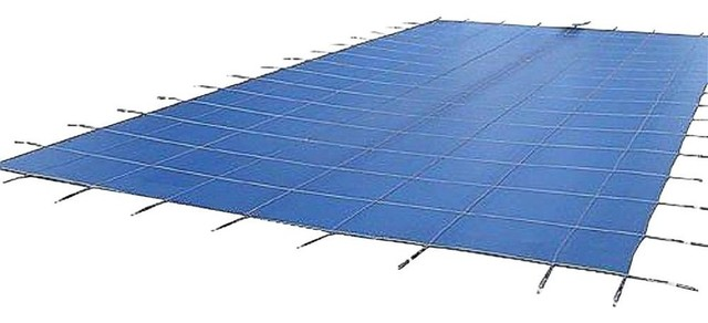Water Warden Blue Mesh Safety Pool Cover, 12&x27; X 27&x27;.