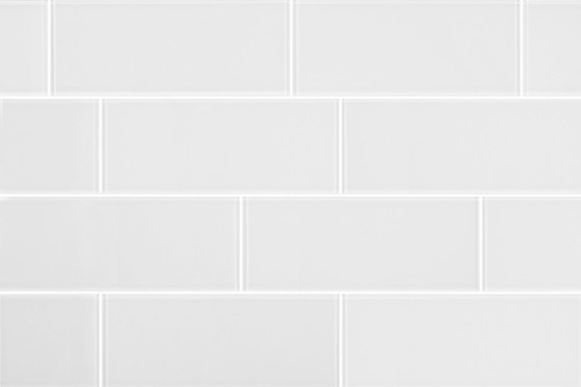 3x8 clear white glass subway tile modern wall and floor tile by