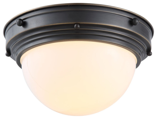 Shop Millennium Lighting 3 Light Neo Industrial Rubbed: 1476 Jade Collection Flush Mount D:10In. H:5.5In. Lt:1