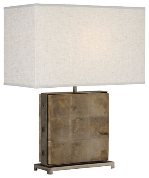 Robert Abbey Oliver Mango Wood Table Lamp.