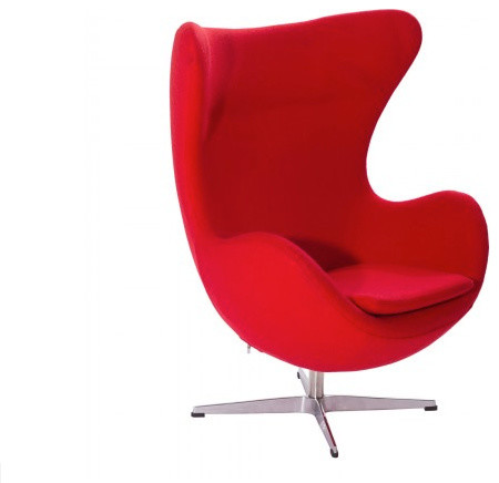 Arne Jacobsen Style Wool Egg Chair Modern Armchairs