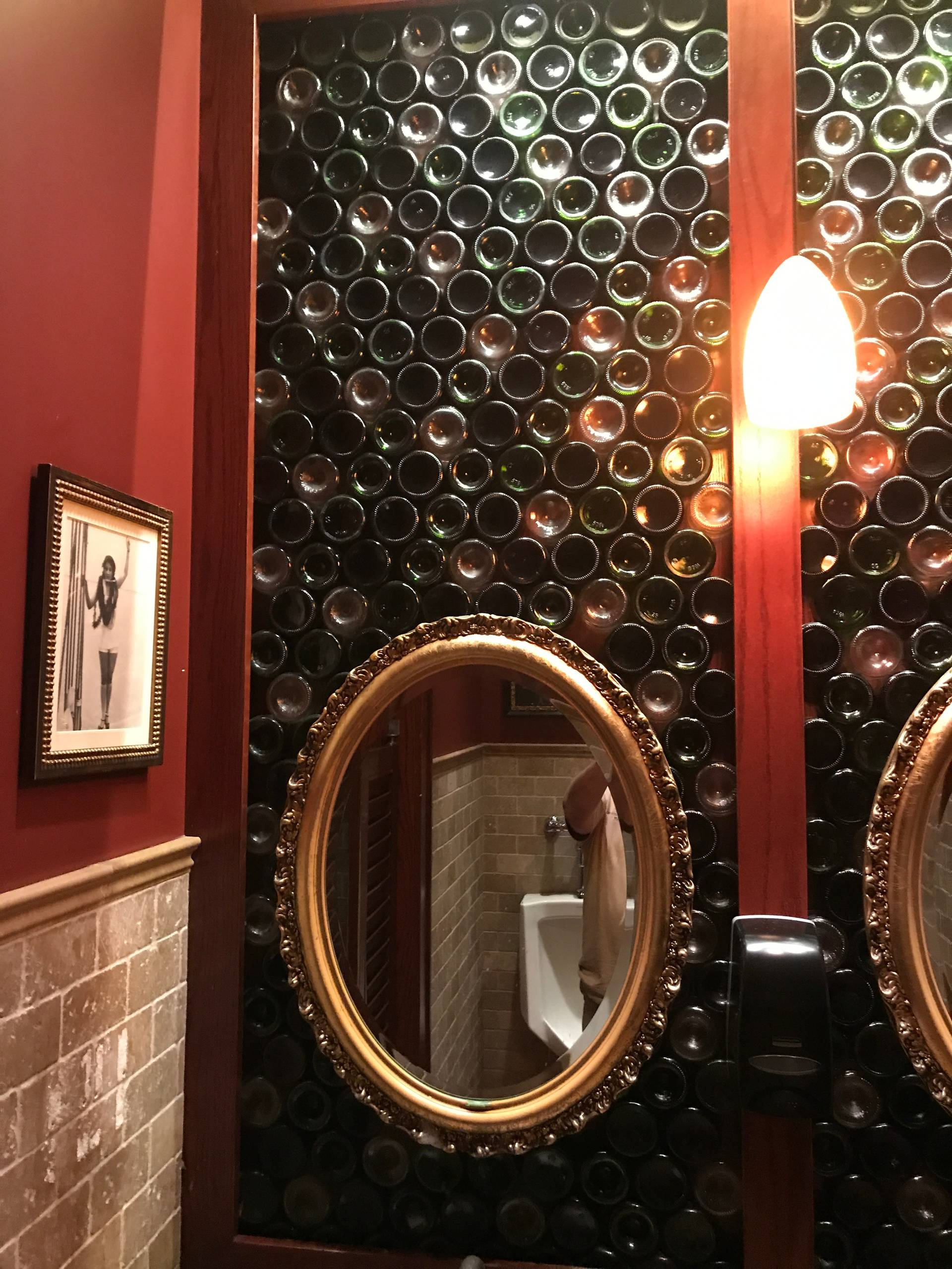 Eclectic Recycled Pub Bathroom