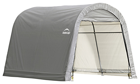 Shelterlogic Shed-In-A-Box Roundtop 10&x27;x10&x27;x8&x27;, Gray.