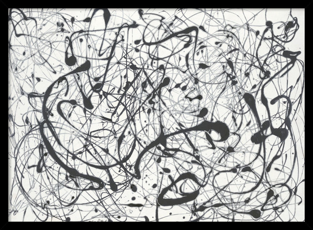 Jackson Pollock Black And White Prints