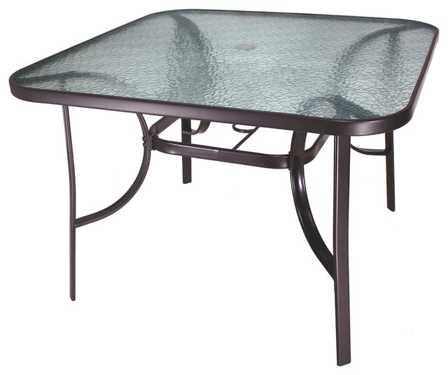 Valentina Glass-Top Dining Table, 42.