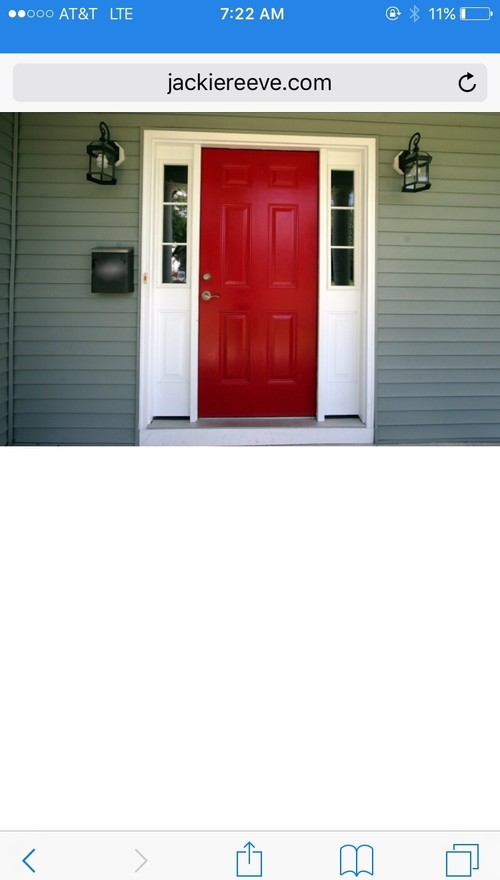 Entry door - same color on both sides?