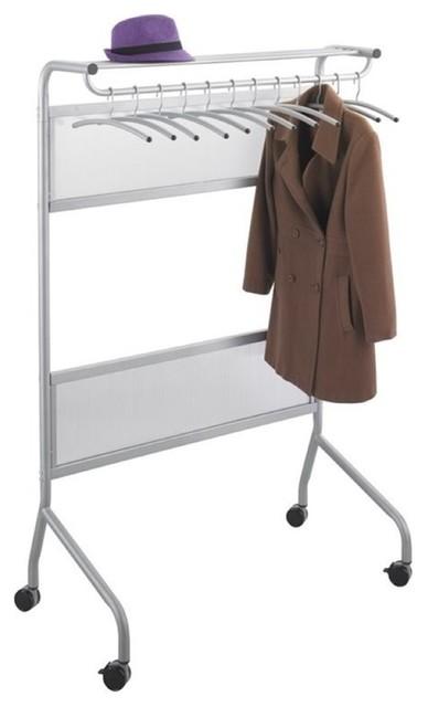 Safco Impromptu Garment Rack, Silver