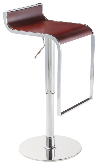 Nero Adjustable Stool Contemporary Bar Stools And