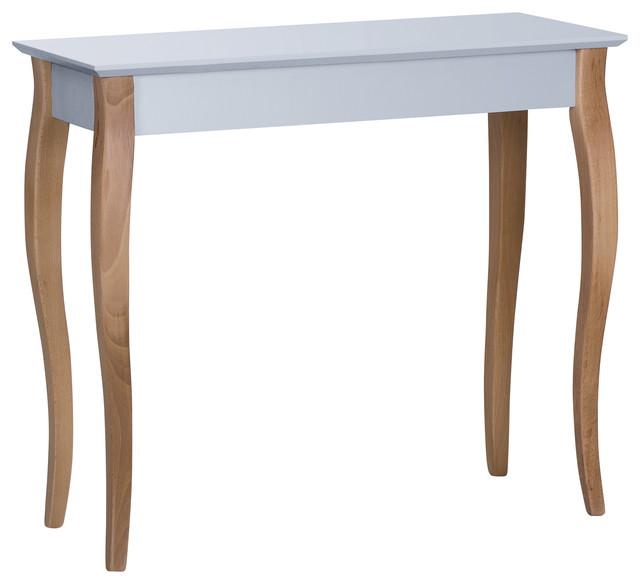 Lilo Medium Scandinavian Console Table, Light Grey