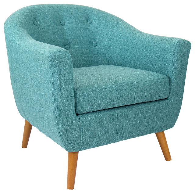 Shop Houzz Lumisource Rockwell Chair Teal Armchairs