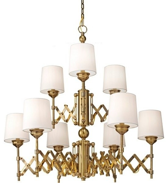 Murray Feiss Chandelier 6 Light: Monte Carlo Murray Feiss Hugo 9 Light Bali Brass