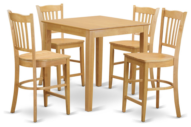 height dining table set oak craftsman indoor pub and bistro sets