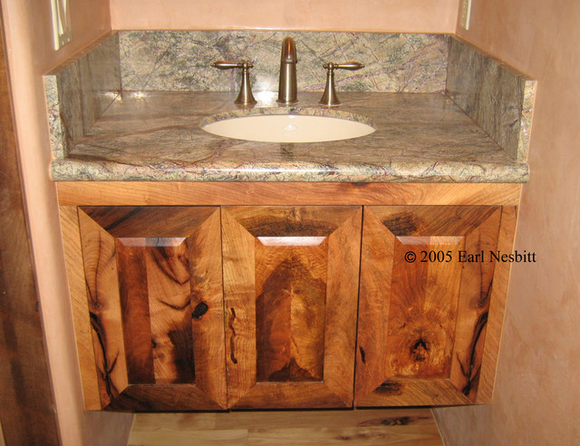 Mesquite Cabinets Contemporary Bathroom Cabinets And