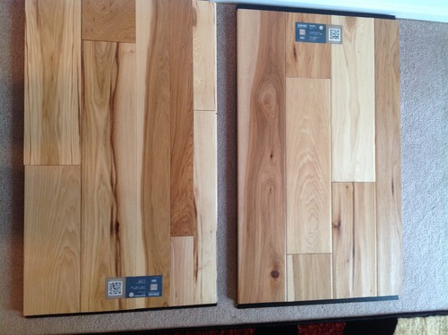 Hand sculpted matte finish vs semigloss in hickory for Semi gloss vs satin