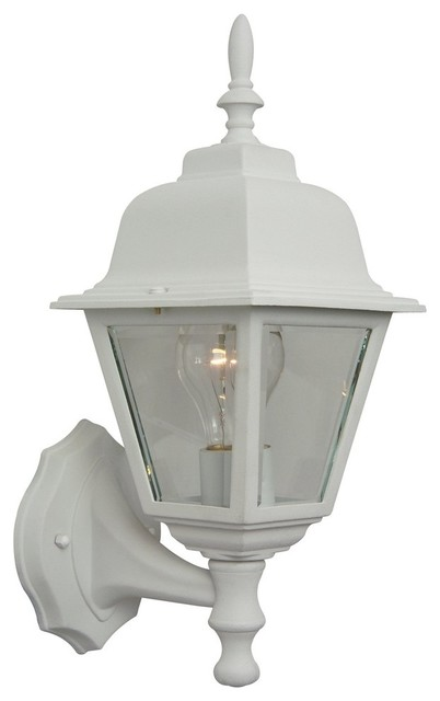 Craftmade Coach Lights Matte White Traditional Outdoor Lighting With 1 Light 60w